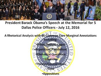 President Barack Obama's Address at Dallas Police Memorial - Rhetorical Analysis