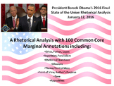 President Barack Obama's 2016 State of the Union Speech – Rhetorical Analysis