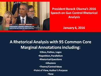 President Barack Obama's Speech on Gun Control – Rhetorical Analysis