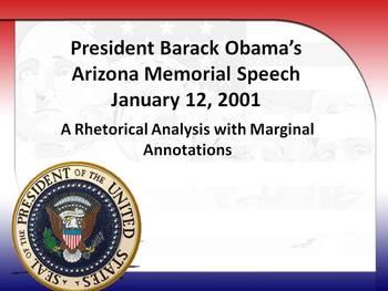 President Obama's Arizona Memorial Speech Rhetorical Analysis w/Marginal Notes