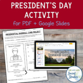 President Baseball Card Project: No-Prep Activity for President's Day