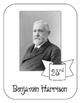President Benjamin Harrison Lapbook and Interactive   Notebook