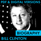 President Bill Clinton Biography Research Organizer, Easy