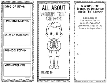 President Bill Clinton - Biography Research Project - Interactive Notebook
