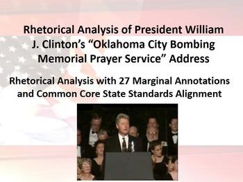 President Bill Clinton's Oklahoma City Memorial Speech Rhetorical Analysis