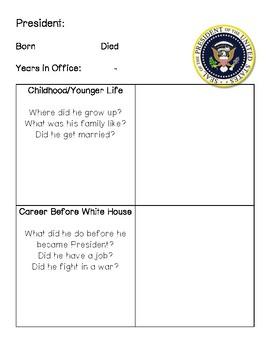 President Biography Research Organizer