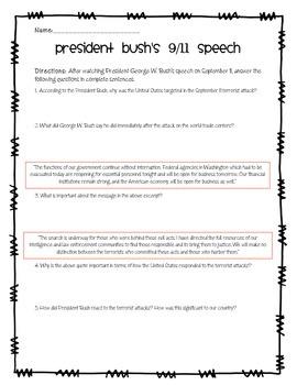 President Bush's 9/11 Speech