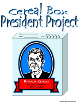 President cereal box project by beachyteach teachers pay for Cereal box project for school