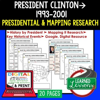 President Clinton Research & Mapping Print and Digital Google