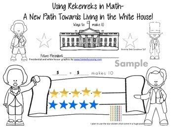 President Day Rekenreks--Making Sets to 10-Student Booklet