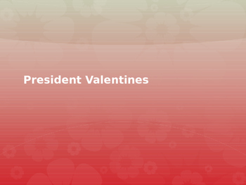 President Day Valentines