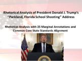 President Donald J. Trump 2018 Parkland, Florida Address – Rhetorical Analysis