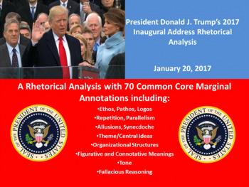 President Donald J. Trump's Inaugural Address – Rhetorical Analysis
