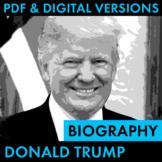 President Donald Trump Biography Research Organizer, Easy