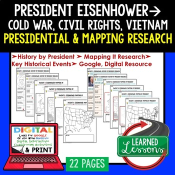 President Dwight D. Eisenhower Research & Mapping Print and Digital Google