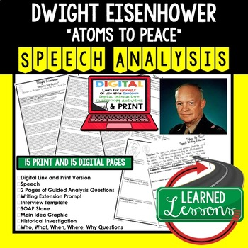 President Eisenhower Atoms for Peace Speech Analysis & Writing Activity, Google