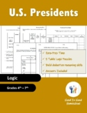 President Election Day Logic Puzzles