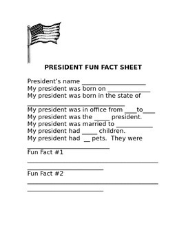 President Research Report Form