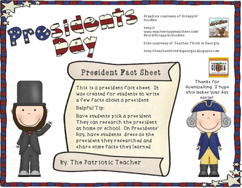 President Fact Sheet