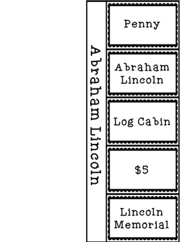 Presidents' Day Flip Books - George Washington and Abraham Lincoln