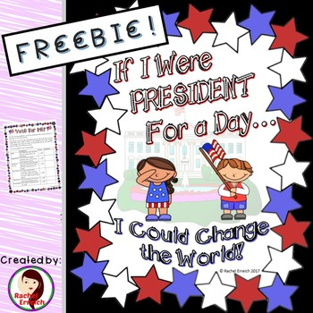 President For a Day - Transition Words Writing Assignment Rubric Sample