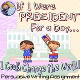 President For a Day-Transition Words Writing Assignment