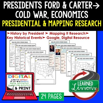 President Ford and Carter Research & Mapping Print and Digital Google