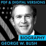 President George W. Bush Biography Research Organizer, Eas