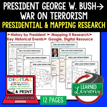 President George W. Bush Research & Mapping Print and Digi