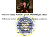 President George W. Bush's September 11 Address – Rhetorical Analysis