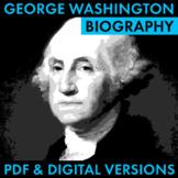 President George Washington Biography Research Organizer,