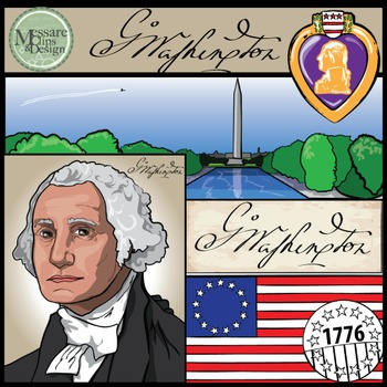 President George Washington Clip Art {Messare Clips and Design}