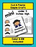 President George Washington - Cut & Paste Craft - Mini Cra