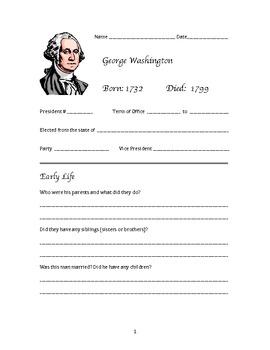 President George Washington Research Activity