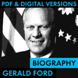 President Gerald Ford Biography Research Organizer, Easy B