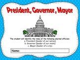 President, Governor, and Mayor Flipbook