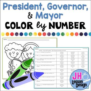 President Governor or Mayor? Color-By-Number