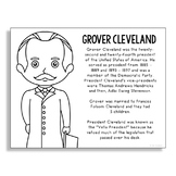 President Grover Cleveland Coloring Page Craft or Poster w