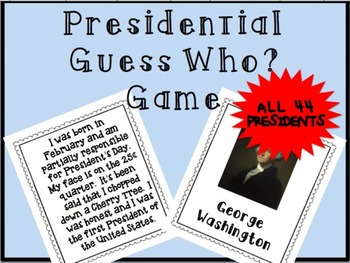 President Guess Who? Game