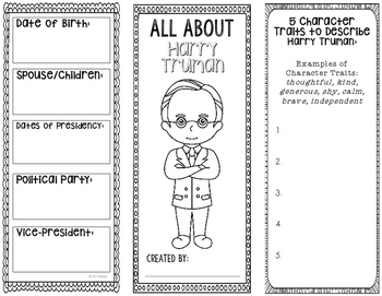 President Harry S. Truman - Biography Research Project - Interactive Notebook