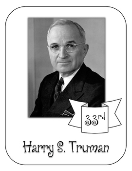 President Harry S. Truman Lapbook and Interactive Notebook