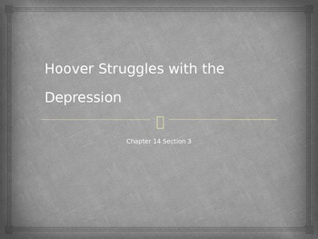 President Hoover  Struggles with the Great Depression