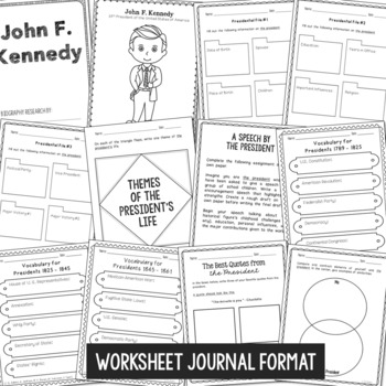 Build-Your-Own President Interactive Notebook, Government, History, Politics