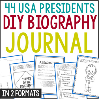 Build-Your-Own President Interactive Notebook, Government,