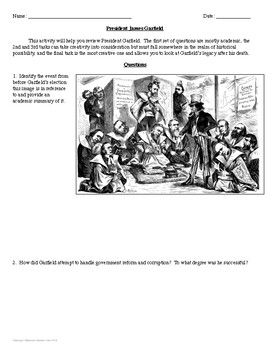 President James A. Garfield Interview Review Activity
