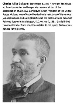 President James Abram Garfield Word Search