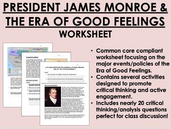 president during the era of good feelings