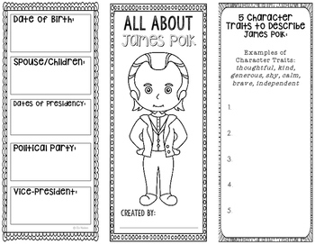 President James Polk - Biography Research Project - Interactive Notebook