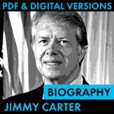 President Jimmy Carter Biography Research Organizer, Easy