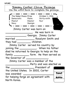 President Jimmy Carter Unit SS2H1 Georgia Historical Figures